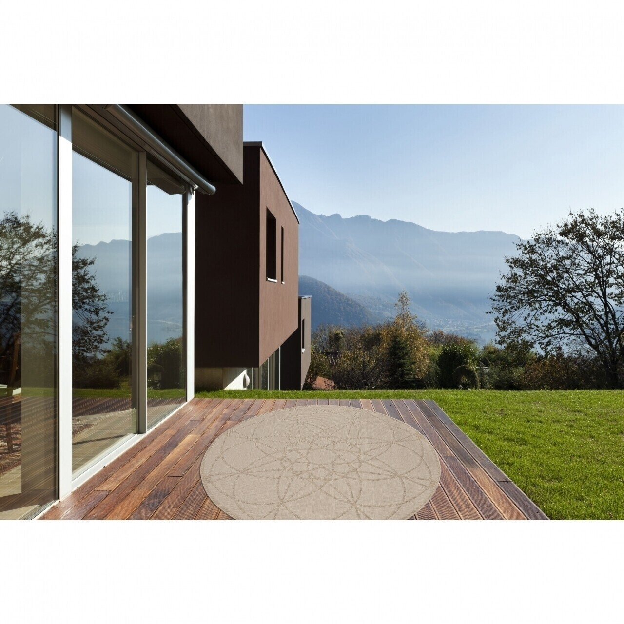 Covor indoor outdoor Floorita TONDO ECRU 194 cm