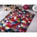 Covor Illusion Prism Pink/Multi, Flair Rugs, 120 x 170 cm, 100% lana, multicolor