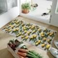 Covor rezistent Webtappeti Limoni 58 x 240 cm, gri/galben/verde