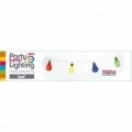 Ghirlanda cu 10 Led-uri Party, 30 cm, multicolore