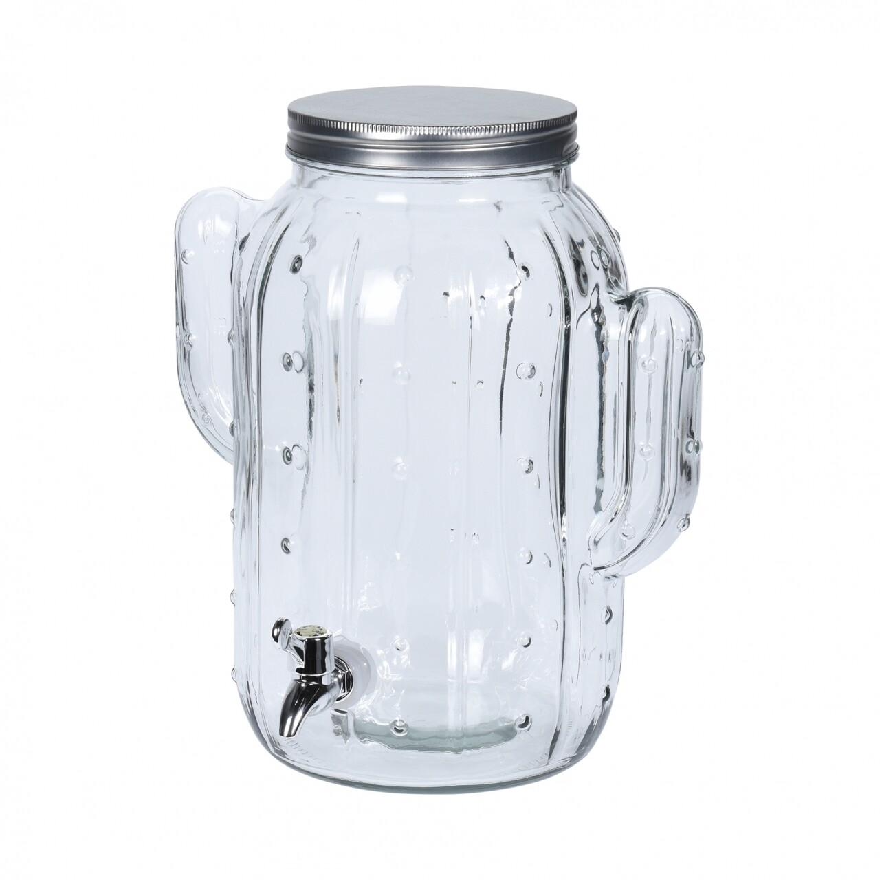 Dispenser din sticla pentru bauturi Cactus, 8 L, sticla, transparent