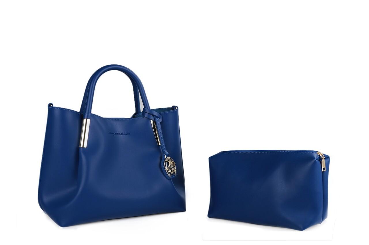 Geanta Beverly Hills Polo Club, 701, piele ecologica, albastru