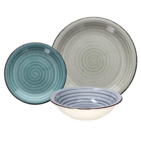 Serviciu de masa 18 piese, Louis Margot, Tognana, ceramica, multicolor