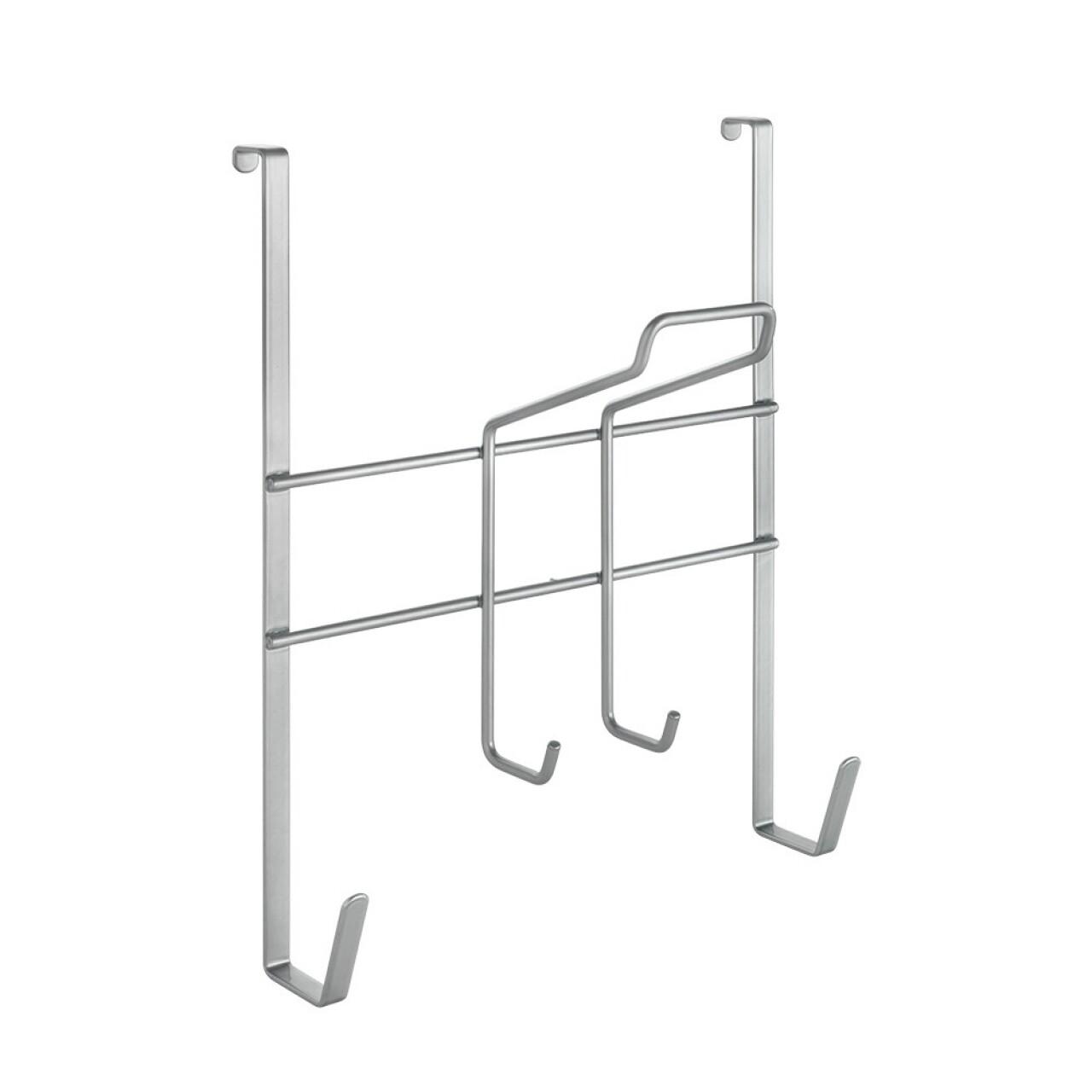 Suport masa si fier de calcat pentru usa, Metaltex, 14 x 28 x 34 cm, inox/invelis Polytherm, argintiu