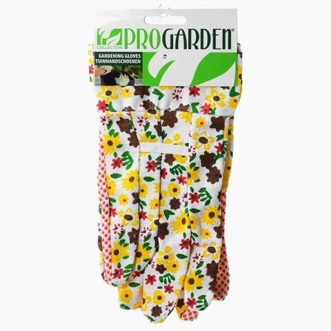 Manusi pentru gradinarit Flower, poliester, galben/maro