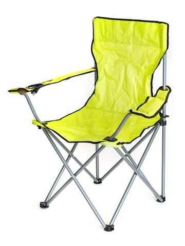 Scaun pliabil pentru exterior Fisherman, Happy Green, metal/plastic, lime