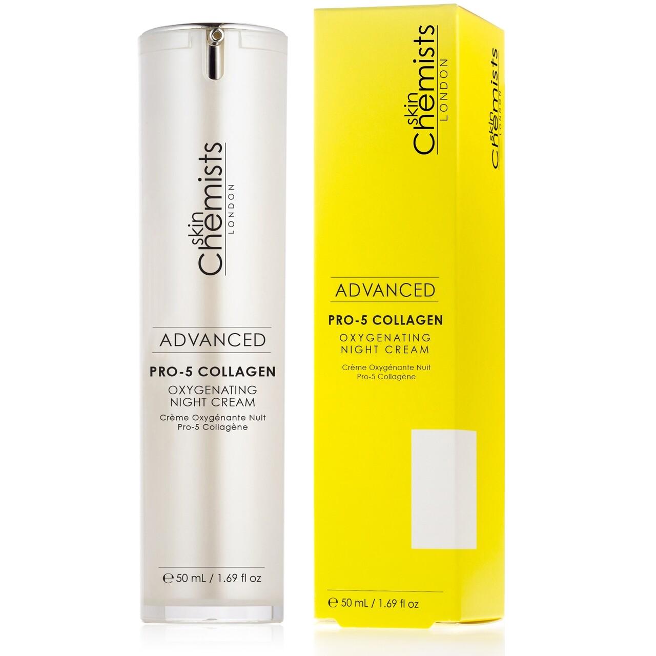 Crema de noapte cu colagen Pro-5, SkinChemists, Advanced Oxygenating Night Cream, 50 ml