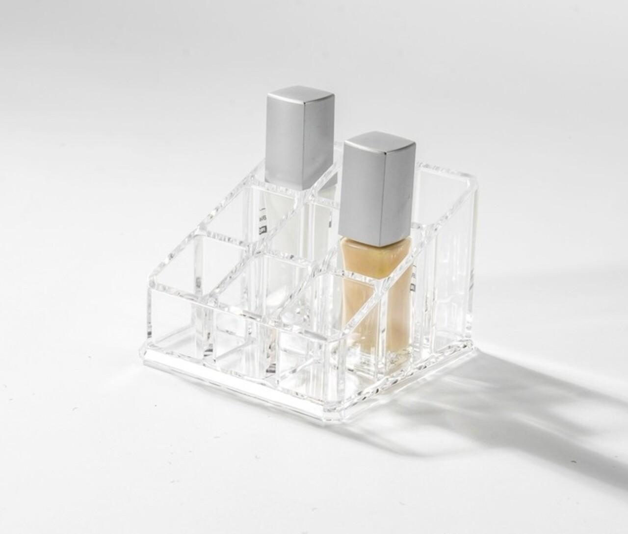 Organizator pentru rujuri Compactor, 9 compartimente, transparent