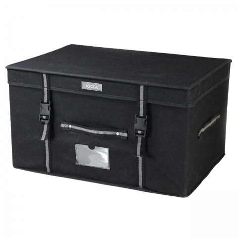 Cutie pentru depozitare Jocca, 30 x 38 x 53 cm, polipropilena, negru