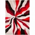 Covor Infinite Splinter Red, Flair Rugs, 160 x 220 cm, 100% poliester, rosu/bej/negru