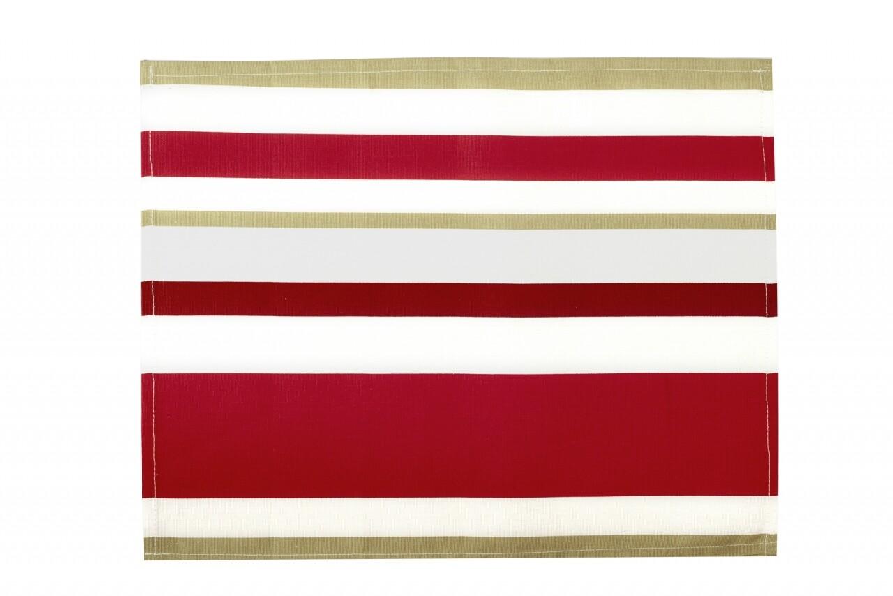 Suport pentru farfurie 30x48 cm, 100% bumbac, 100% bumbac, Red Stripes