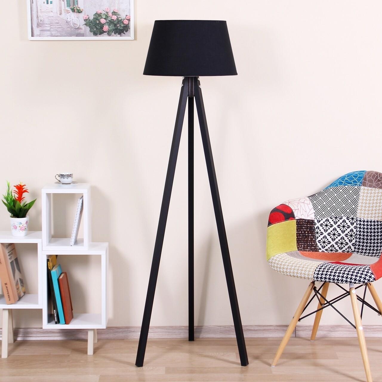 Lampadar Conical, Casa Parasio, 38x42x145 cm, 1 x E27, 60 W, negru