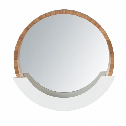 Oglindă de perete cu spațiu de depozitare, Wenko Finja, bambus