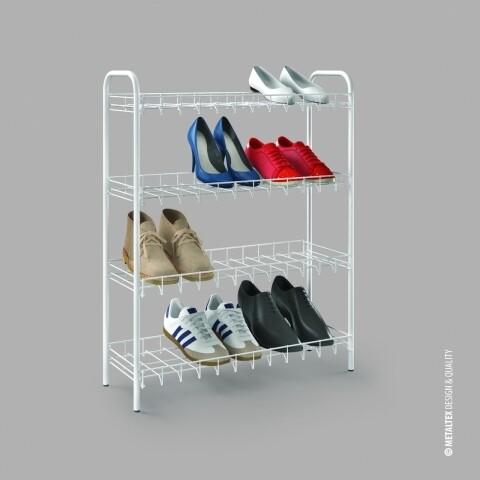 Suport pentru 12 perechi de pantofi, Metaltex, LDPE