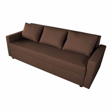 Canapea Mădălina Dark Chocolate 218x85x85cm cu ladă de depozitare
