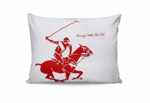 Set 2 fete de perna 50x70, 100% bumbac, Beverly Hills Polo Club, Red/White
