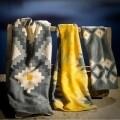 Lenjerie de pat dubla Sunny, Aglika, 3 piese, 200 x 220 cm, 100% bumbac, multicolor
