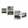 Set 4 tablouri decorative, Alpha Wall, Amazing Beach, 30x30/35x50 cm