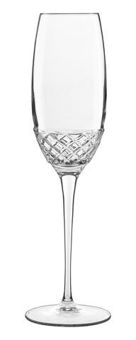 Set 6 pahare pentru sampanie, Roma 1960 Flute C 511, Luigi Bormioli, 240 ml, sticla cristal