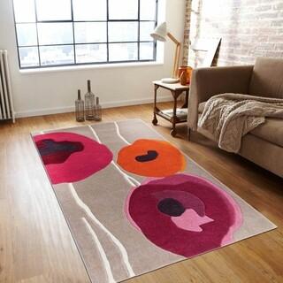 Covor Poppies Bedora, 200x300 cm, 100% lana, rosu, finisat manual