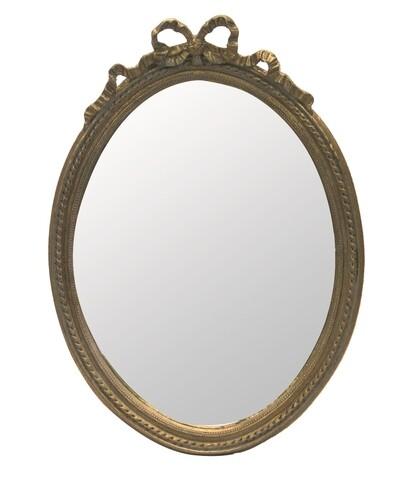Oglinda decorativa InArt Bree, 37 x 51 cm, polirasina/sticla, auriu