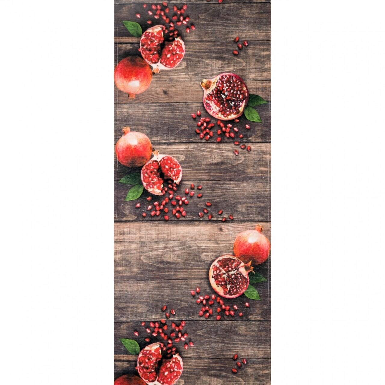 Covor rezistent Webtappeti MELOGRANA CM 58x140 cm, maro/rosu/verde