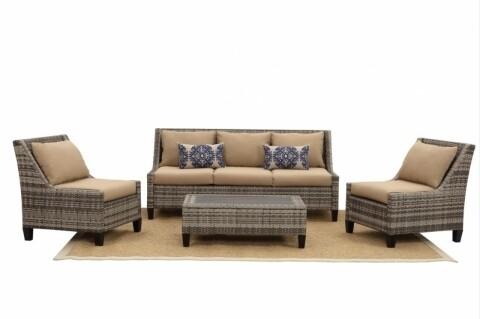 Set mobilier de gradina, Heinner, 4 piese, Roma Brown
