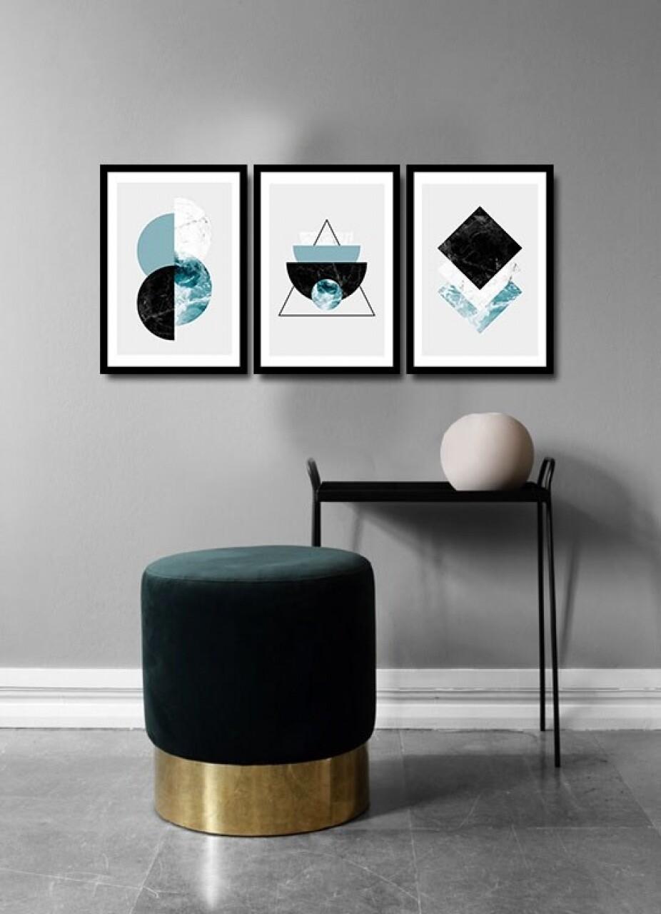 Set 3 tablouri decorative, Alpha Wall, Rebirth, 36x51 cm