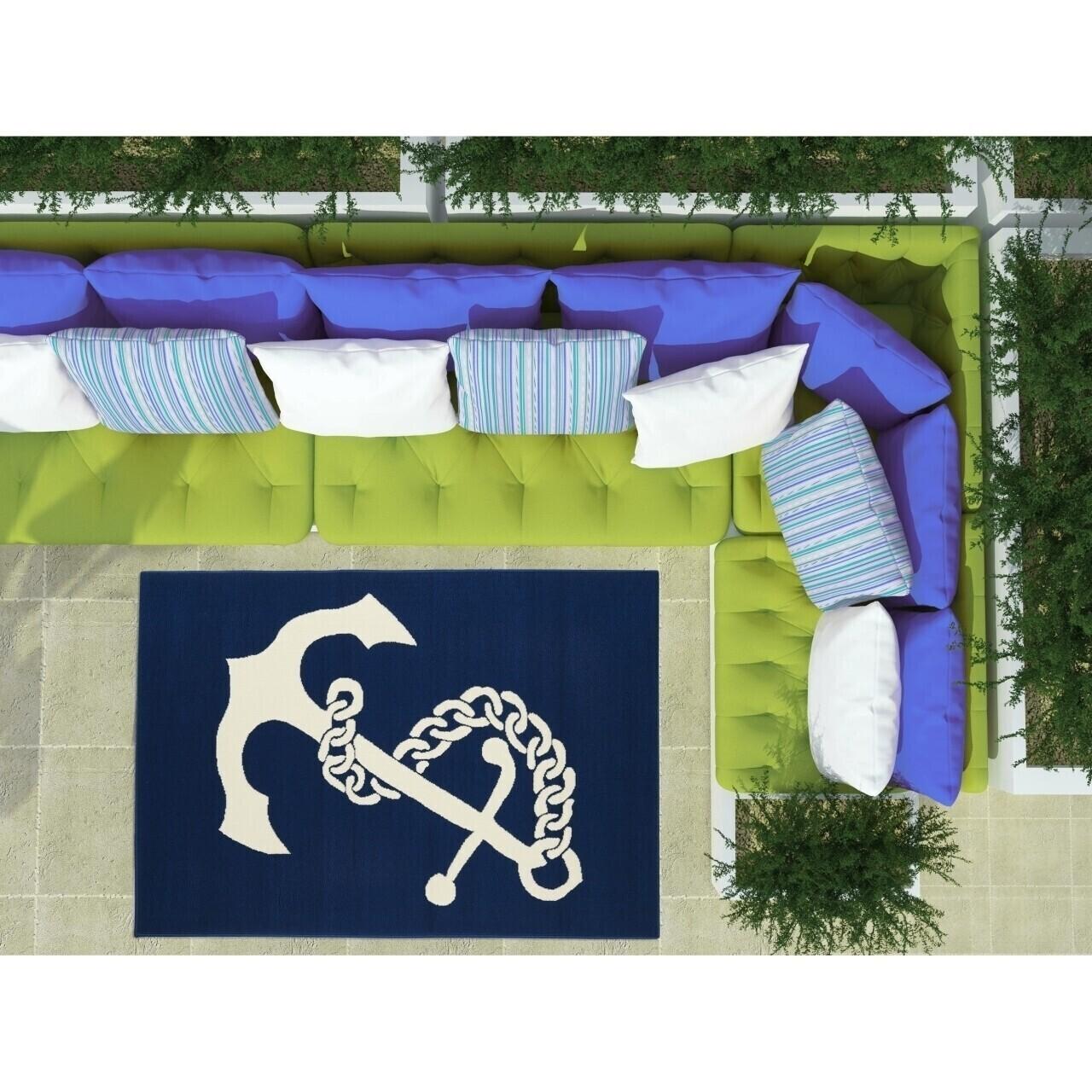 Covor indoor outdoor Floorita ANCHOR NAVY 133X190