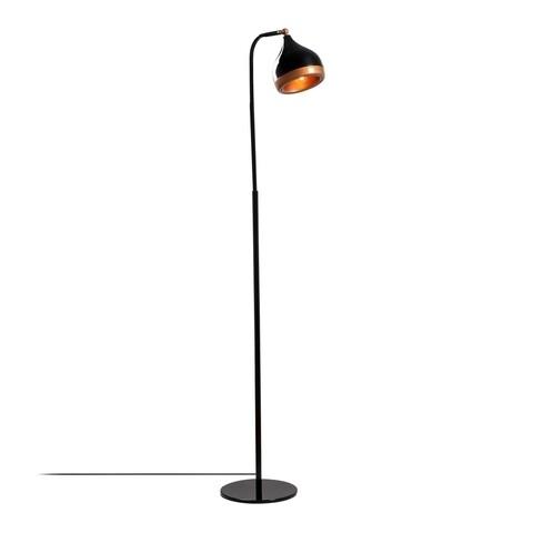 Lampadar Yildo NT - 146, Opviq, 40 x 28 x 116 cm, 1 x E27, 100W, negru/cupru