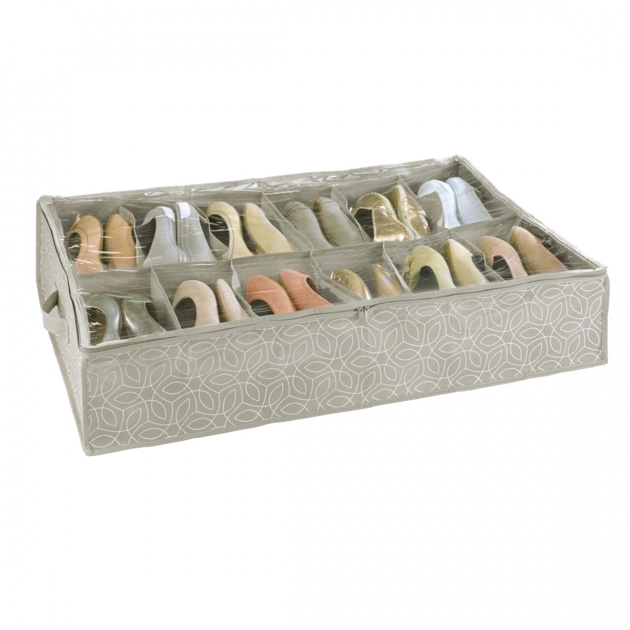 Cutie pentru depozitat înacălțămintea, Wenko Balance, cu 12 compartimente