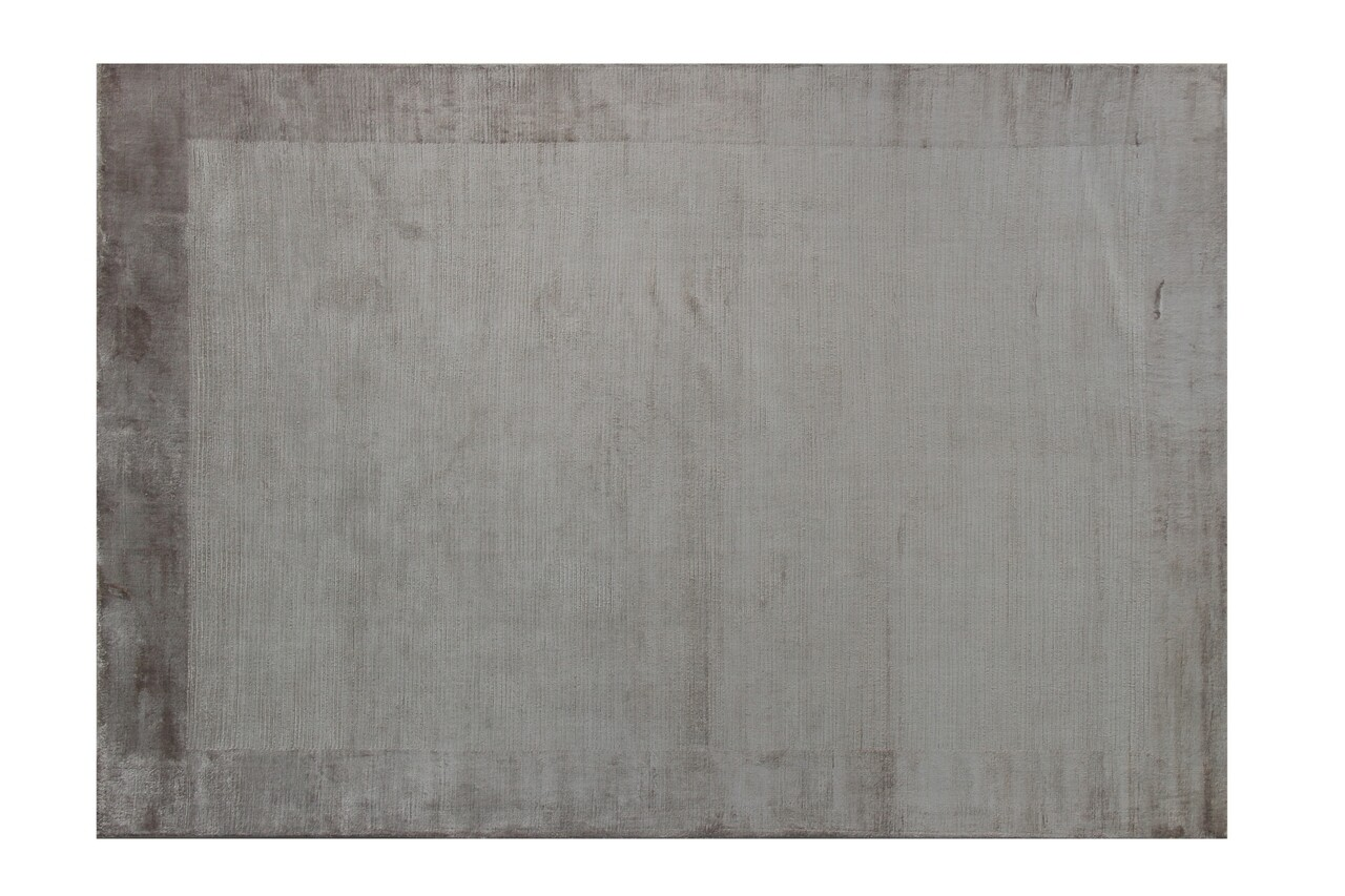 Covor lucrat manual Eko, Alya 3300 - Dark Mink, 100% viscoza,  140 x 200 cm