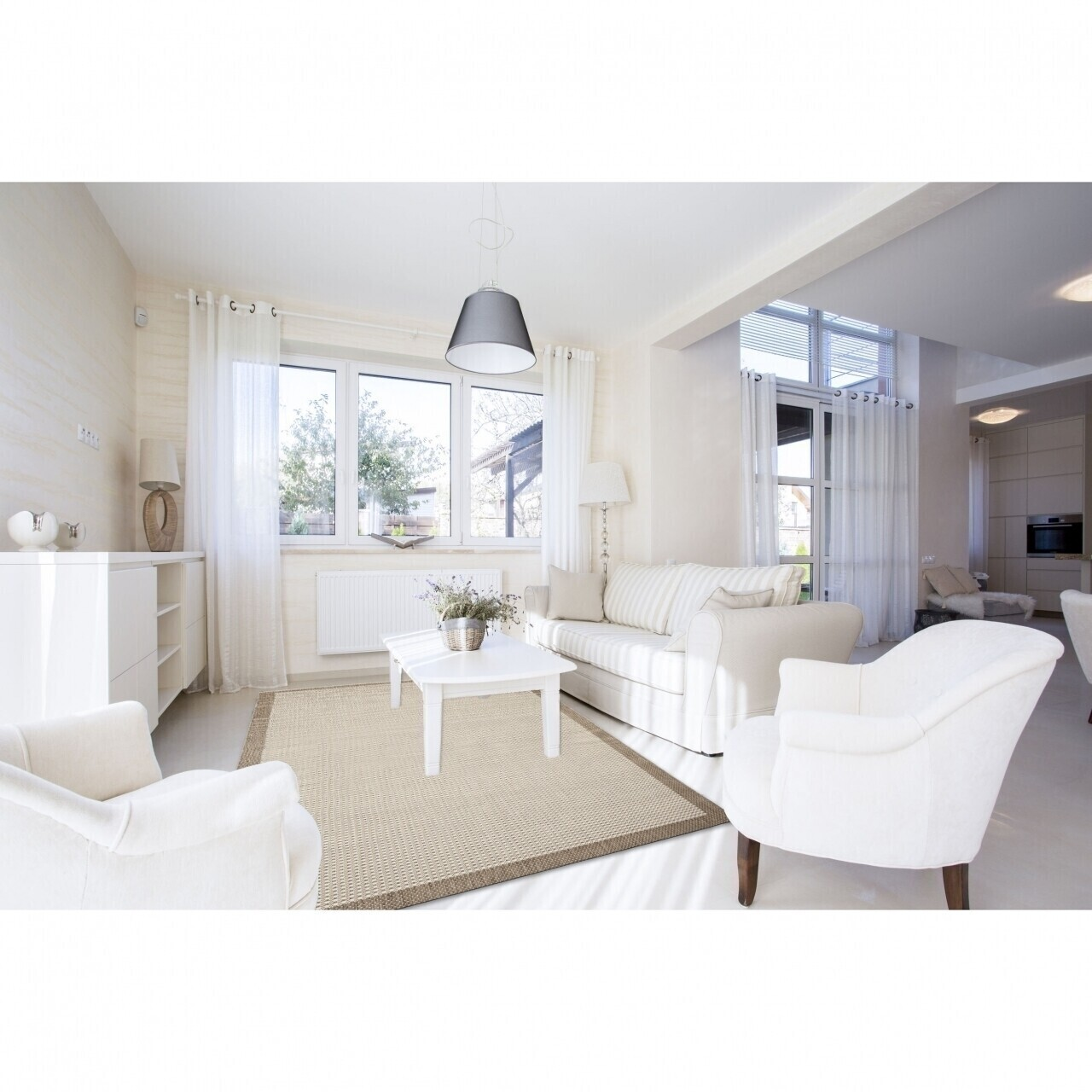 Covor indoor outdoor Floorita CHROME NATURAL  135X190