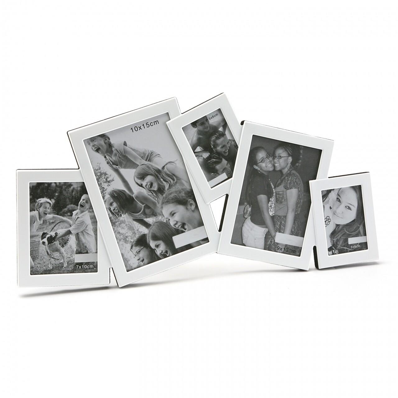 Rama foto multi White, 30 x 41 x 3 cm, metal, alb