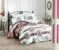 Lenjerie de pat pentru o persoana, 3 piese, 100% bumbac ranforce, Hobby, Manuela, multicolora
