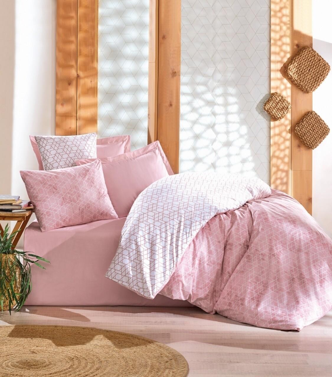 Lenjerie de pat pentru o persoana, 3 piese, 100% bumbac ranforce, Cotton Box, Best