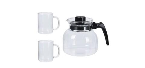 Set pentru ceai, 3 piese, sticla