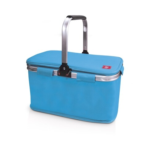Cos frigorific termoizolant pentru picnic Iris Barcelona, 43x24x27 cm, poliester, albastru