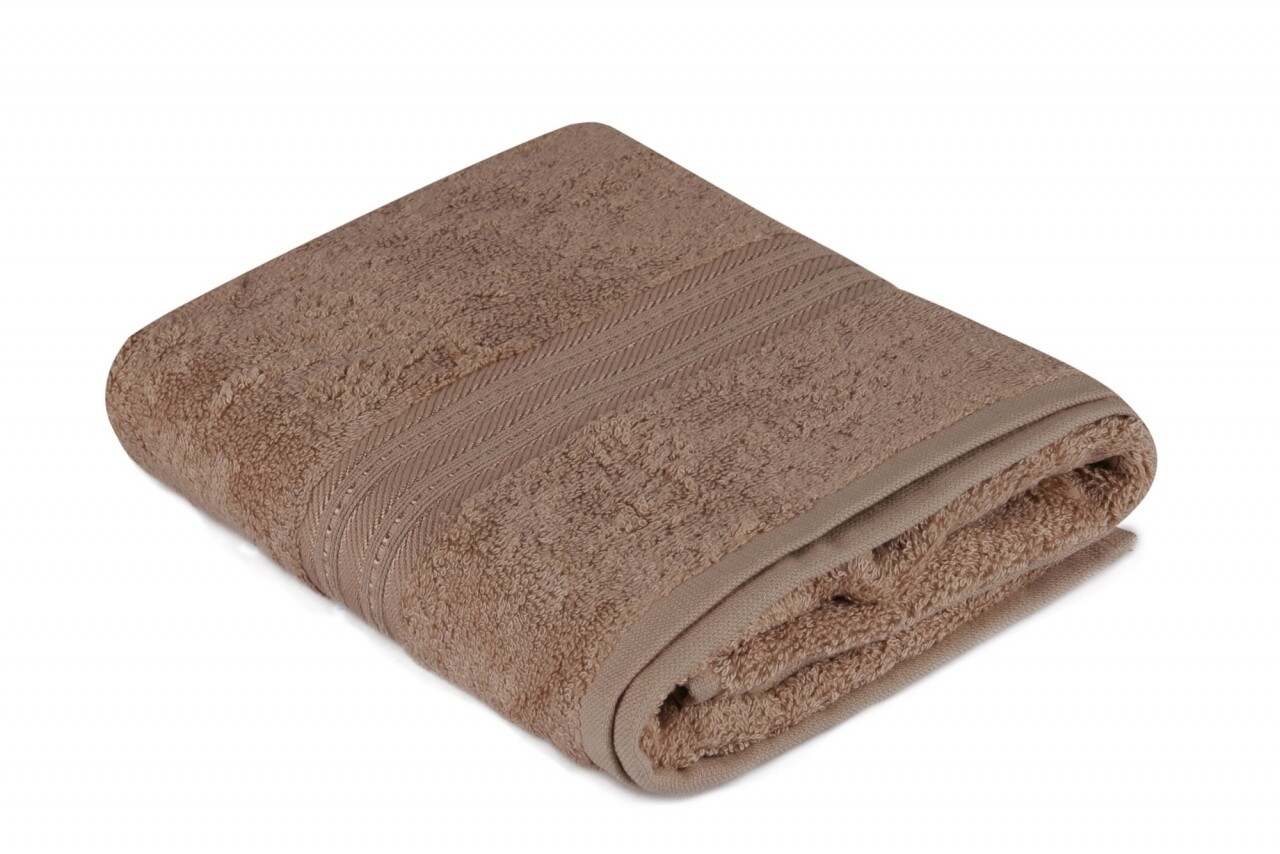 Prosop de maini, Hobby, Lavinya, 50x90 cm, 60% fibra de bambus si 40% bumbac, maro