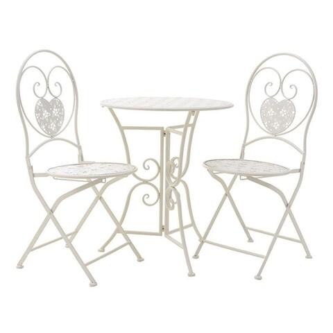 Set mobilier de gradina White, InArt, 3 piese, alb