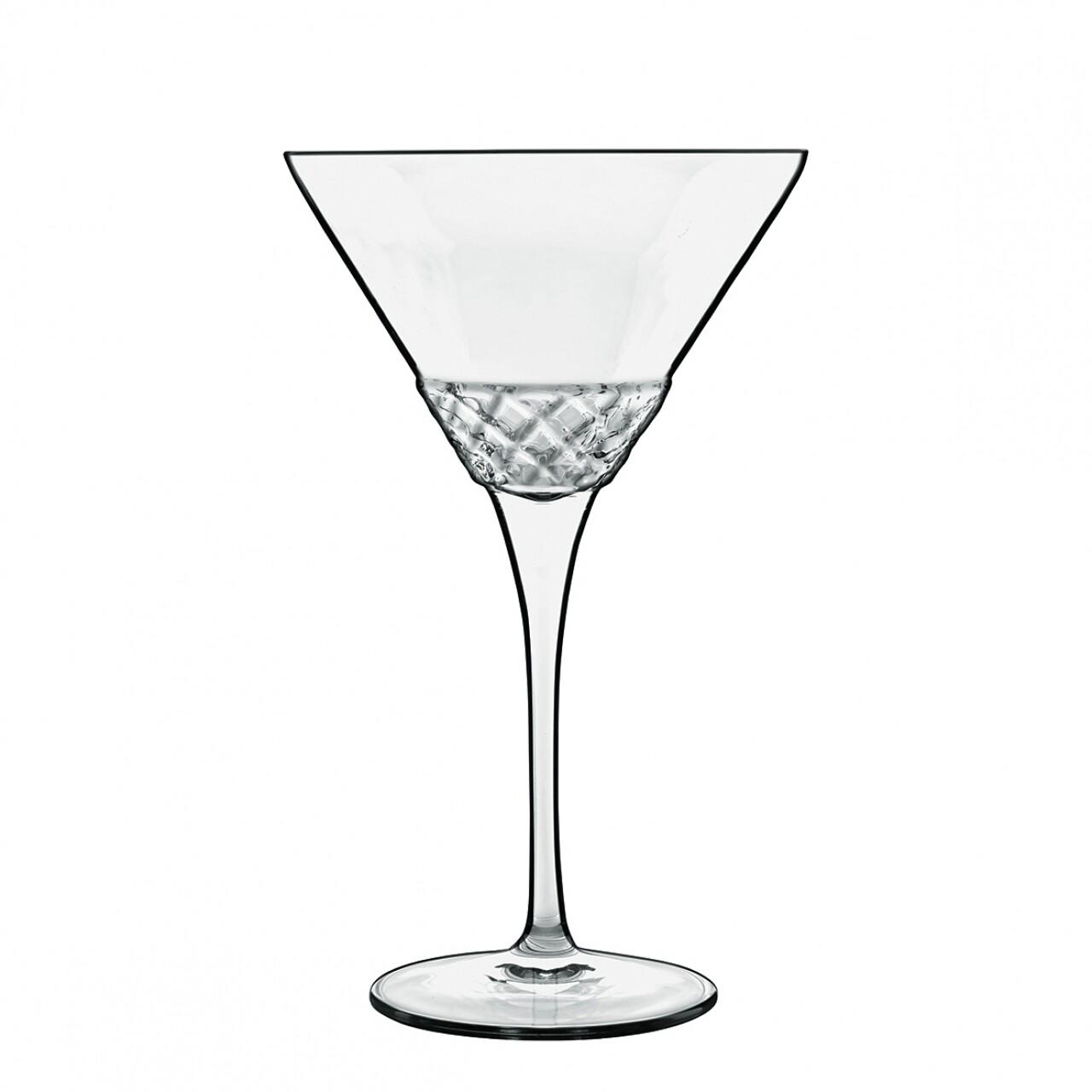 Set 4 pahare martini, Roma 1960, Luigi Bormioli