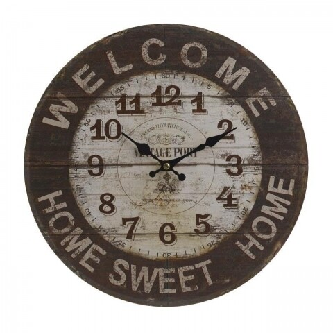 Ceas de perete InArt, 34X4 cm, Welcome