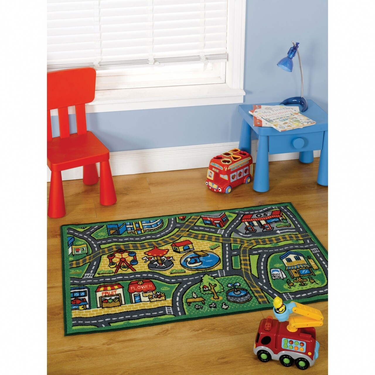 Covor Matrix Kiddy Happy Town Multi 100X190 cm