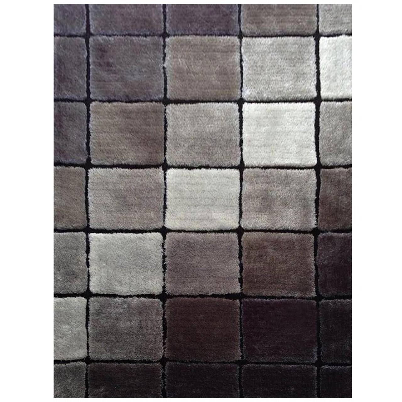 Covor Ludvic Koberec SM73B Sivy, 80 x 150 cm, 100% poliester, gri/negru