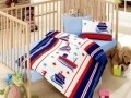 Lenjerie de pat pentru copii, 4 piese, 100% bumbac ranforce, Cotton Box, Marinar