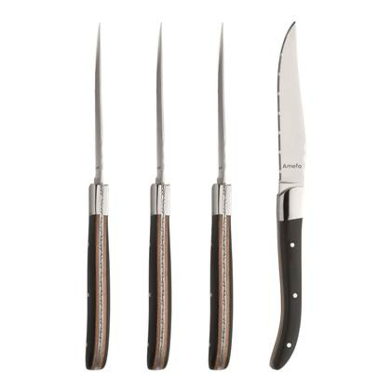 Set 4 cutite pentru friptura, Amefa, Royal Steak Duo, inox