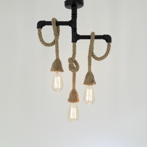 Candelabru All Design, metal, 40x50 cm, E27, 40 W, Black