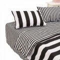 Lenjerie de pat dubla Black&White, Heinner Home, 4 piese,  220 x 240 cm, 100% bumbac, alb si negru