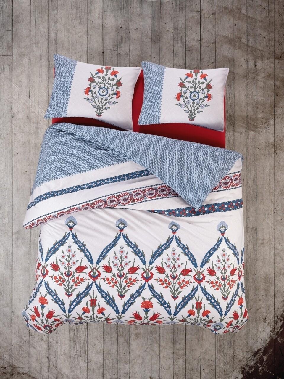 Lenjerie de pat pentru o persoana, 3 piese, 100% bumbac ranforce, Cotton Box, Mahber