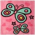 Covor Kiddy Play Butterfly Pink 90X90